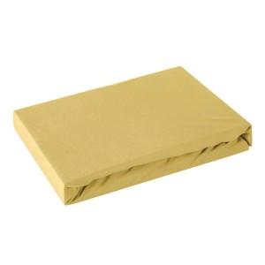 bavlnená medovo žltá kvalitná balnená napínacia plachta