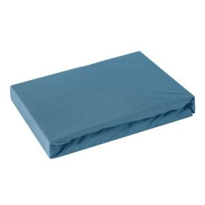 Modrá bavlnená napínacia plachta s gumičkou