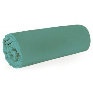 Mentolová napínacia plachta na posteľ z kvalitne tkaného makosaténu