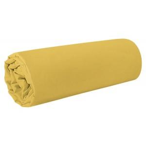 Žltá napínacia plachta na posteľ s gumičkou