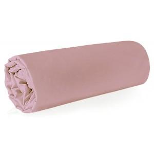 Púdrovo ružová napínacia plachta na posteľ