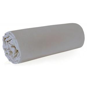 Jednofarebná svetlo sivá plachta na posteĺ s gumičkou