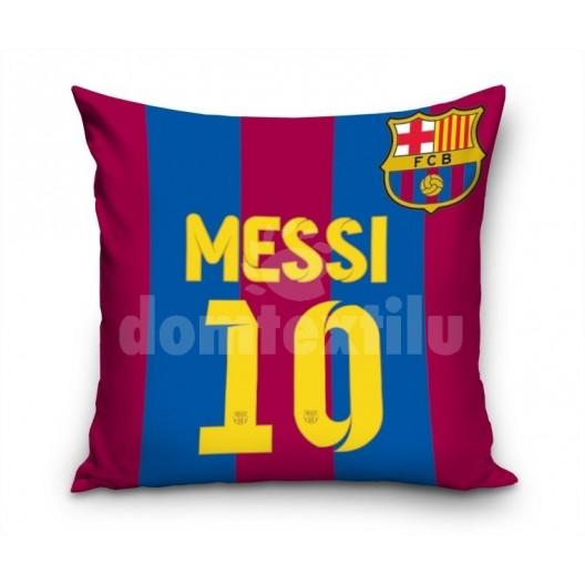 Bordovo modrá obliečka na vankúš pre deti s motívom Messi