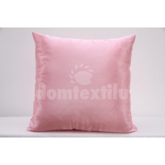 Dekoračná obliečka na vankúš ružovej farby