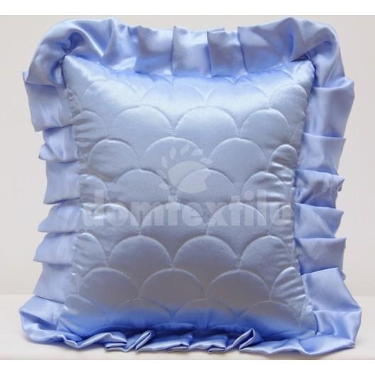 Modrá obliečka na vankúše so vzorom šupín