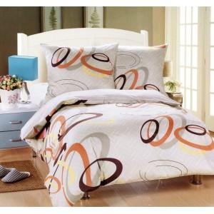 Biela posteľná obliečka s farebnými kruhmi