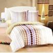 Biela obliečka na postele s farebnými kruhmi