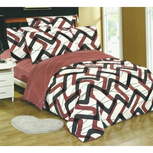Obliečky na posteľ bielej farby s hnedo čiernymi vzormi