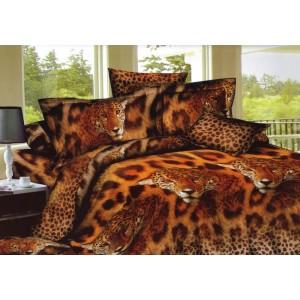 Hnedá obliečka na posteľ s hnedým 3D vzorom