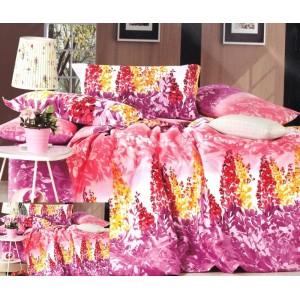 Ružovo fialové obliečky na postele