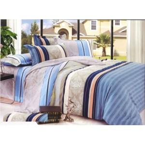 Pásikavá modro béžová obliečka na postele