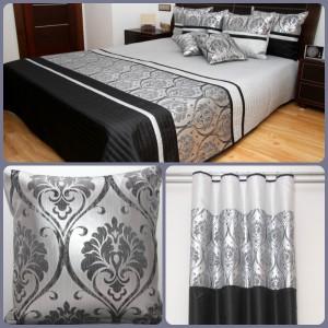 Čierno strieborný luxusný set s ornamentami