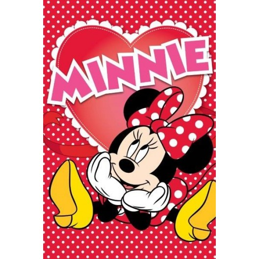 Červené uteráky pre dieťa s Mickey Mousom