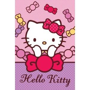 Hello Kitty ružový detský uterák