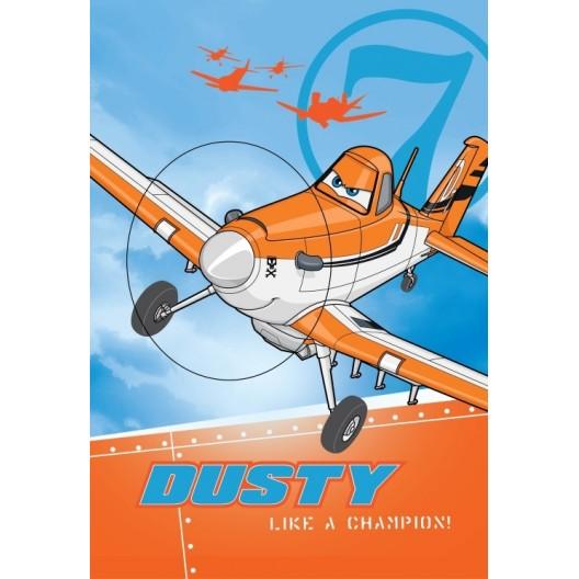 Detské uteráky modro oranžovej farby s detským motívom lietadla