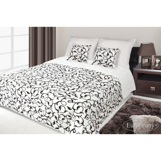 Francúzsky prehoz na posteľ krémový s hnedým vzorom