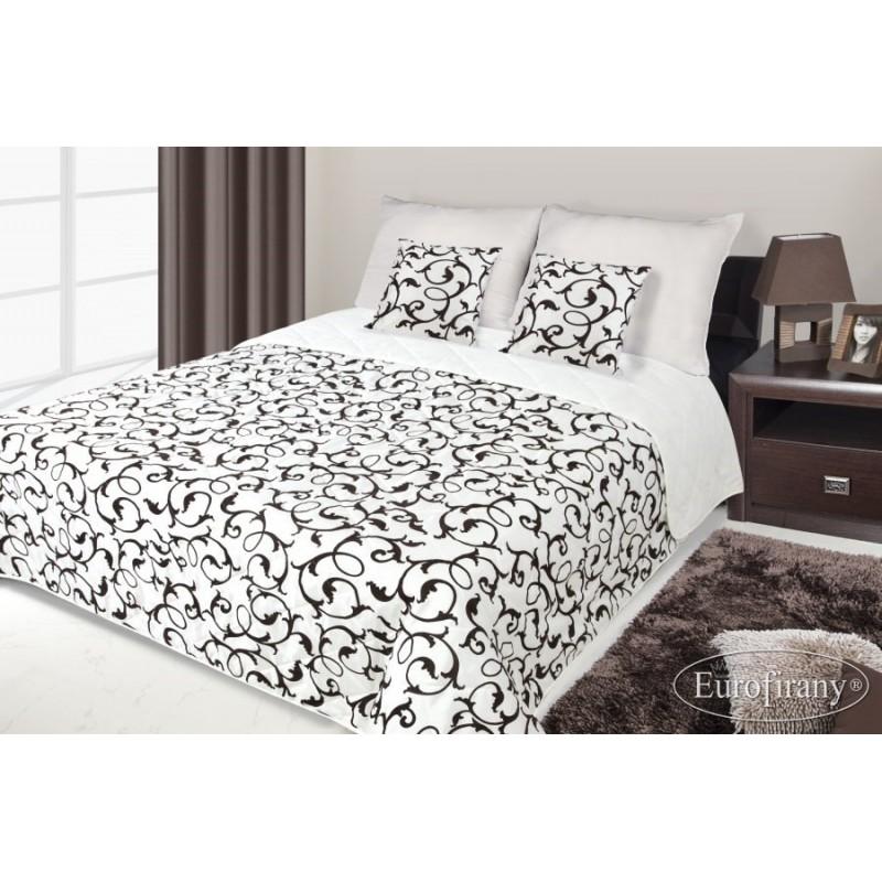 31a842436561 Francúzsky prehoz na posteľ krémový s hnedým vzorom - domtextilu.sk