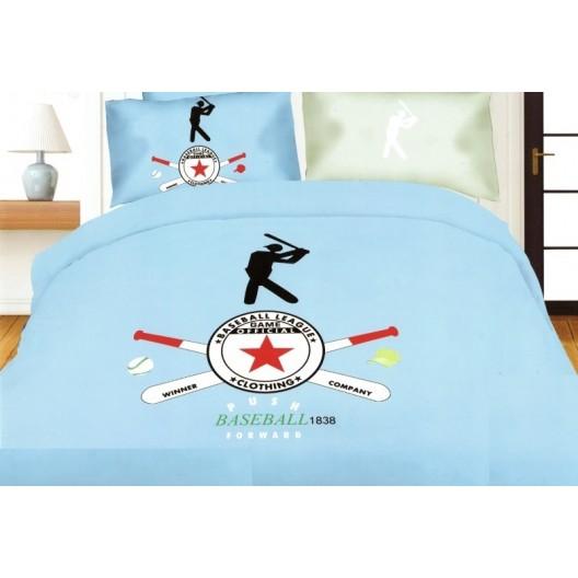 Baseball modrá posteľná obliečka