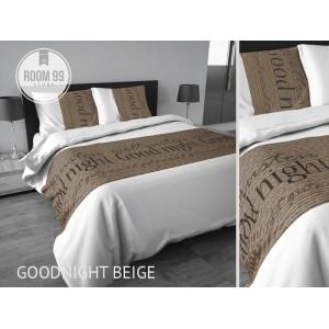 Elegantné posteľné obliečky hnedo bielej farby