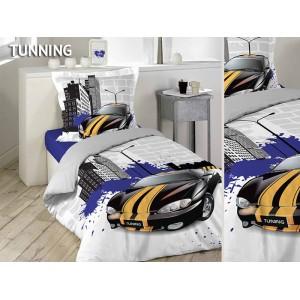 TUNING obliečky na posteľ bielo sivej farby