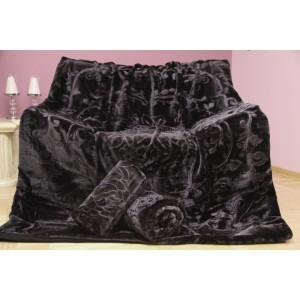 Prikrývky na sedačky v čiernej farbe