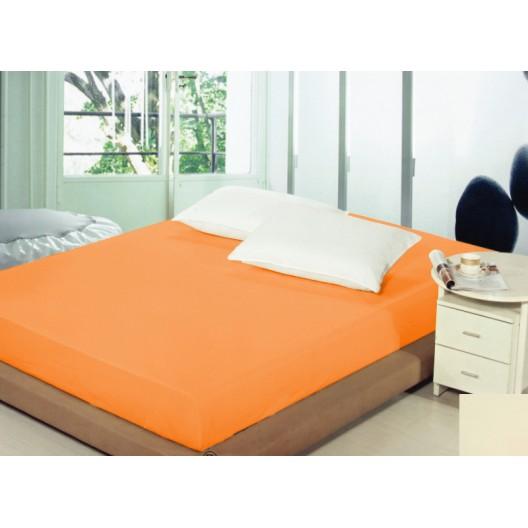 Prestieradlá na posteľ svetlo oranžovej farby