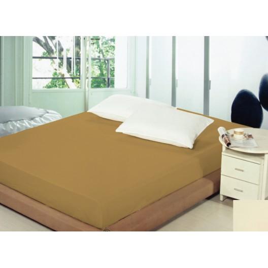 Plachta na posteľ 140x200 hnedej farby