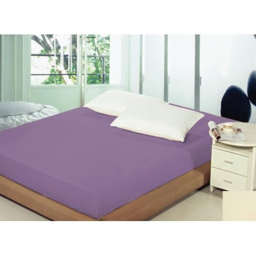 Posteľné plachty fialovej farby s gumou