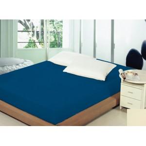 Kráľovsky modré prestieradlo na posteľ