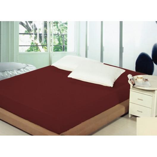 Plachta na posteľ 180x200cm bordovej farby