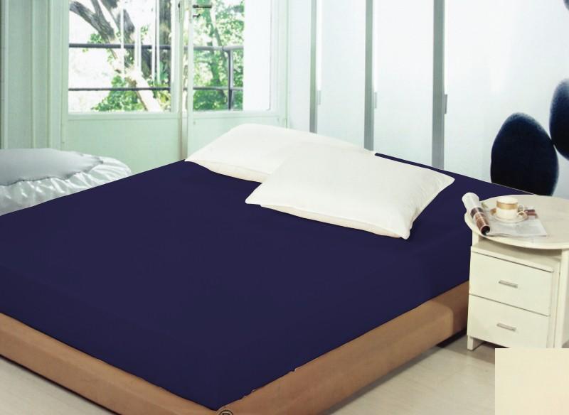 DomTextilu Tmavomodré prestieradlá na postele Šírka: 90 cm | Dĺžka: 200 cm 5263-20222
