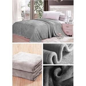 Deky tmavo sivej farby na posteľ pre deti