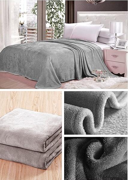 DomTextilu Deky tmavo sivej farby na posteľ pre deti 5271-15754 160 x 210 cm Bez motívu Sivá