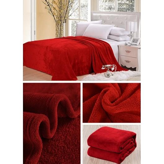Bordová deka do spálne