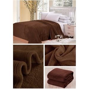 Tmavo hnedá deka na postel