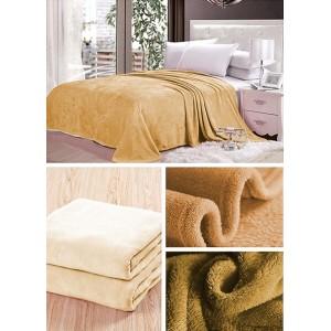 Svetlo karamelová deka na gauč