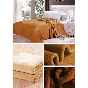 Tmavo karamelové hrejivé deky