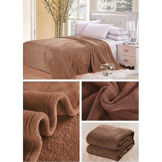 Dekoračná deka a prikrývka v hnedej farbe