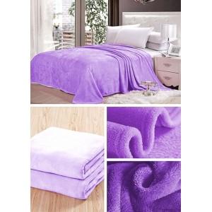 Svetlo fialová deka do obývačky