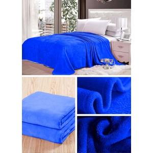 Sýto modrá deka do spálne
