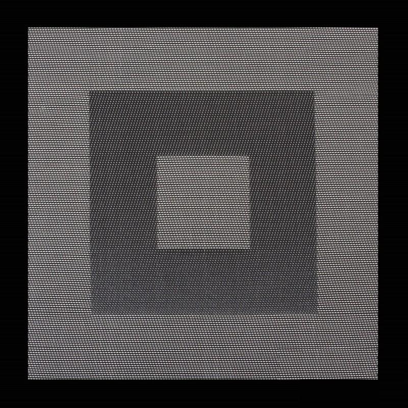 DomTextilu Štvorcové prestierania na jedálenský stôl v bielo čiernej farbe Šírka: 35 cm | Dĺžka: 35 cm 5358-14437