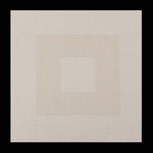Štýlové štvorcové prestieranie béžovej farby na stôl