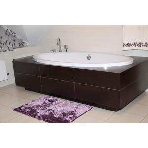Moderné kúpeľňové predložky fialovej farby