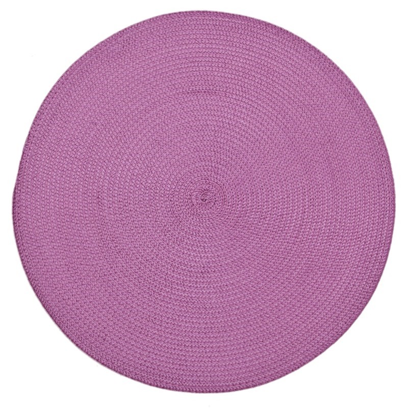 DomTextilu Kruhové kuchynské prestieranie ružovej farby na stôl 5386-14464