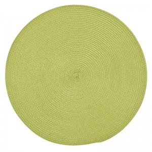 Kruhové zelené prestieranie pod taniere