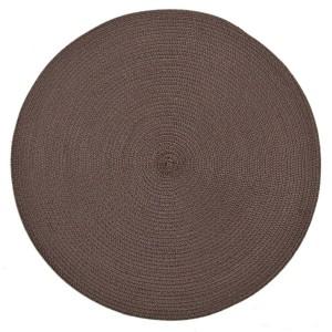 Štýlové kruhové prestieranie hnedej farby na stôl