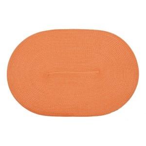 Oválne oranžové prestieranie pod taniere