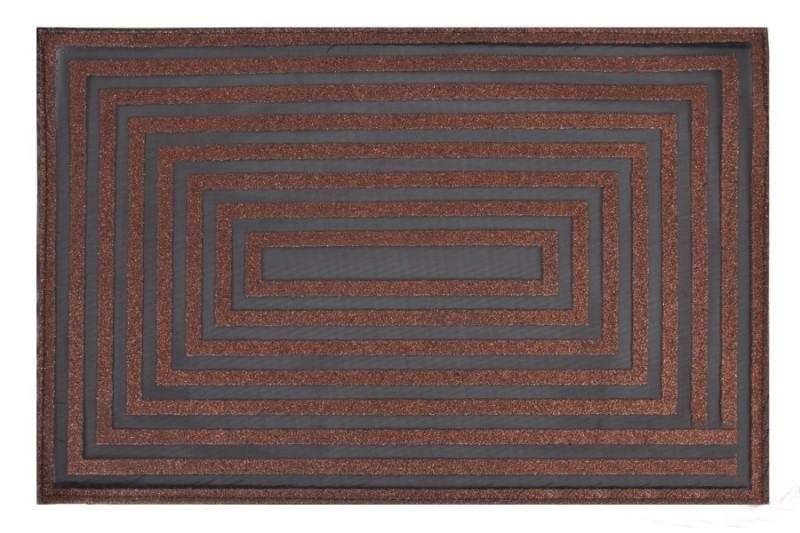 DomTextilu Moderné prestieranie obdĺžnikového vzoru v hnedej farbe na stôl 5419-14511