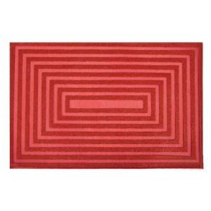Dizajnové prestieranie červenej farby na jedálenský stôl