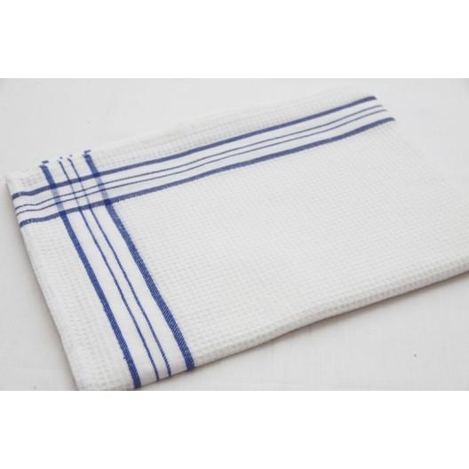 Utierky do kuchyne bielej farby so vzorom modrej